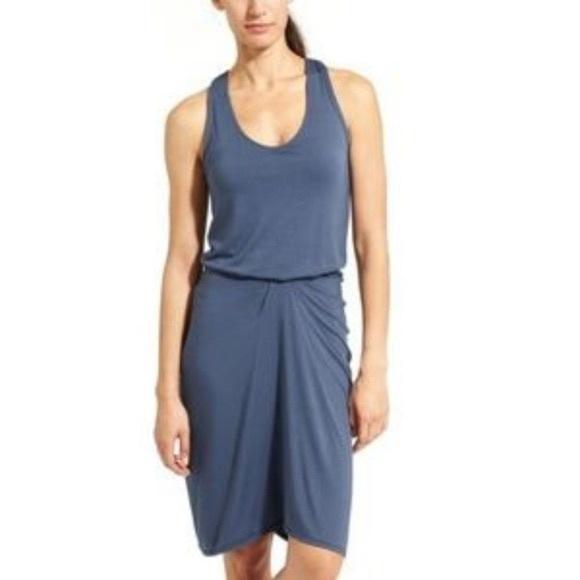 Athleta Blue Daytrip Tank Dress Racerback Small